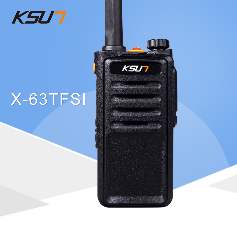 (1 STKS) Zwart KSUN X-63TFSI Walkie Talkie UHF 400-470 MHz MINI-handheld transceiver tweeweg Ham Radio communicator