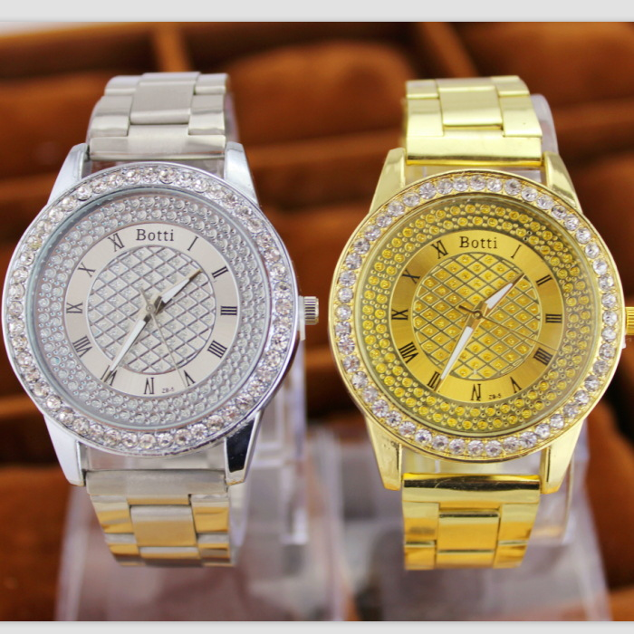 2019 New Brand Gold Grid Crystal Casual Quartz Watch Kvinnor - Damklockor - Foto 5