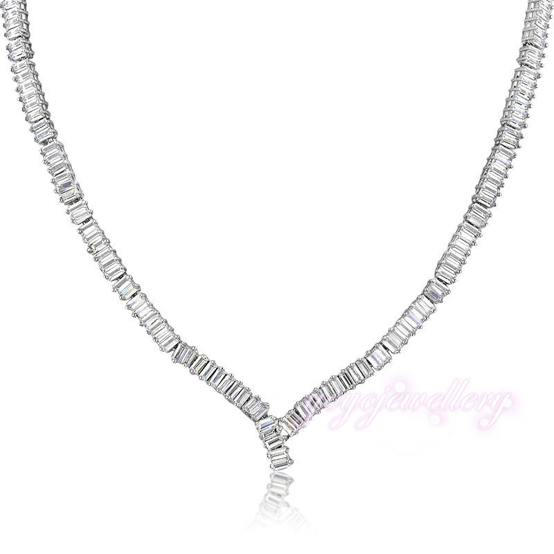 54e5f1214 Fashion Short Necklace White Zircon High Quality Jewelry Free International  Shipping CN153-in Choker Necklaces from Jewelry & Accessories