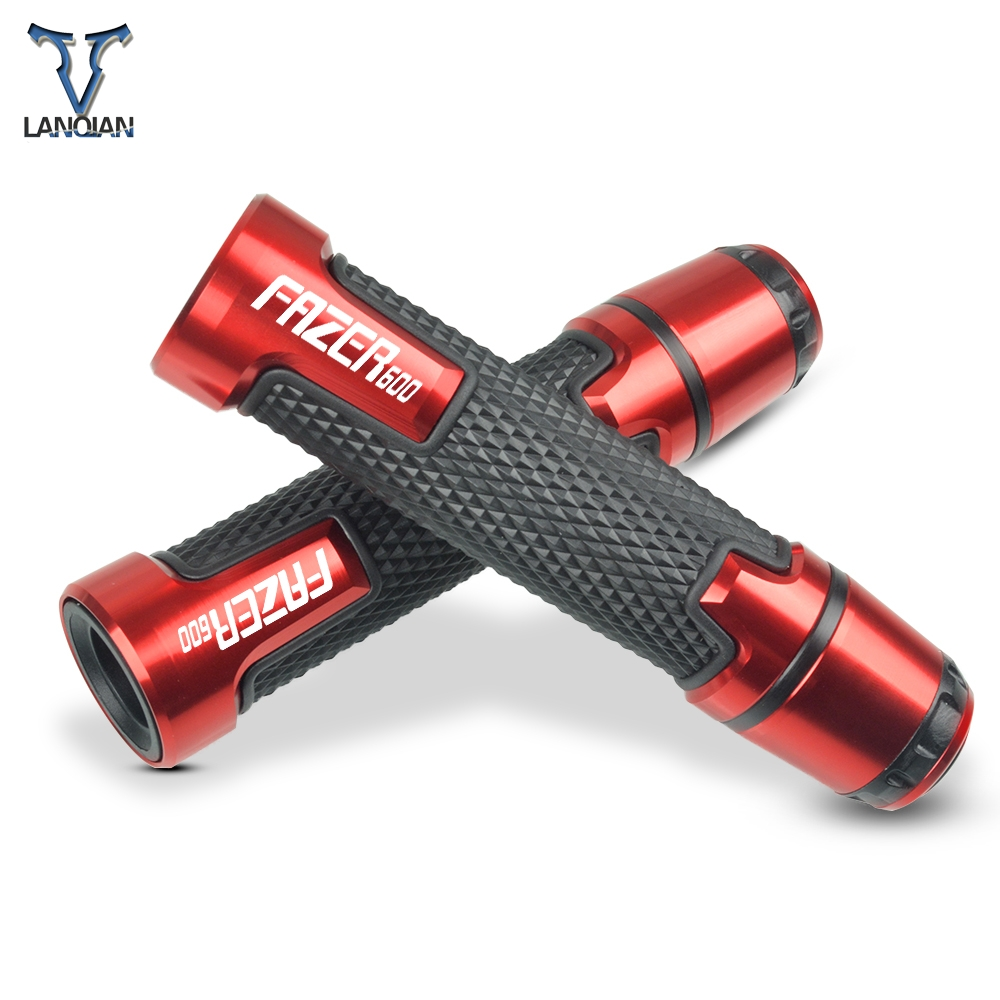 7/8'' Motorcycle Aluminum Plastic Handle Grips With Logo For YAMAHA FAZER600 FAZER R600 1998 1999 2000 2001 2002 2003 2004-2010