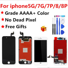 AAAA جودة LCD الشاشة ل iphone 7 عرض الجمعية استبدال مع الأصلي محول الأرقام الهاتف أجزاء ل iphone 8 8 p 7plus5 lcd