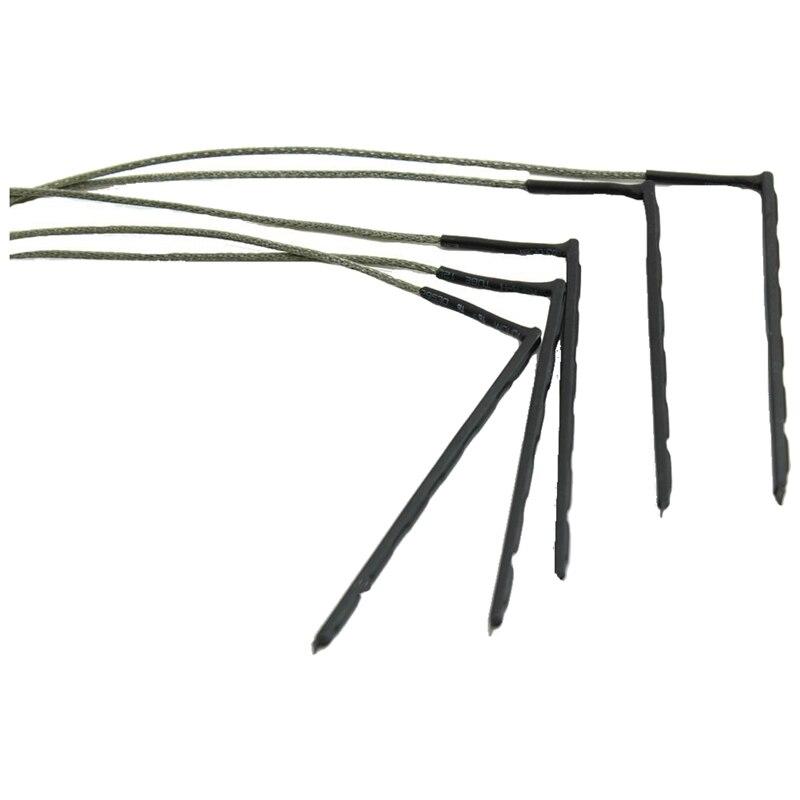 5 Pcs Bendable Acoustic Guitar Transducer Sensitivity Piezo Bridge Pickup Cable