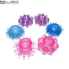 Libo mini Penis Rings double cockring Delay Premature Ejaculation penis ball loop lock Sex Toys product for Men.(China)