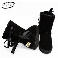 2017 High Quality Brand Women S Winter UG Snow Boots Waterproof Genuine Leather Snowboots Female Botas