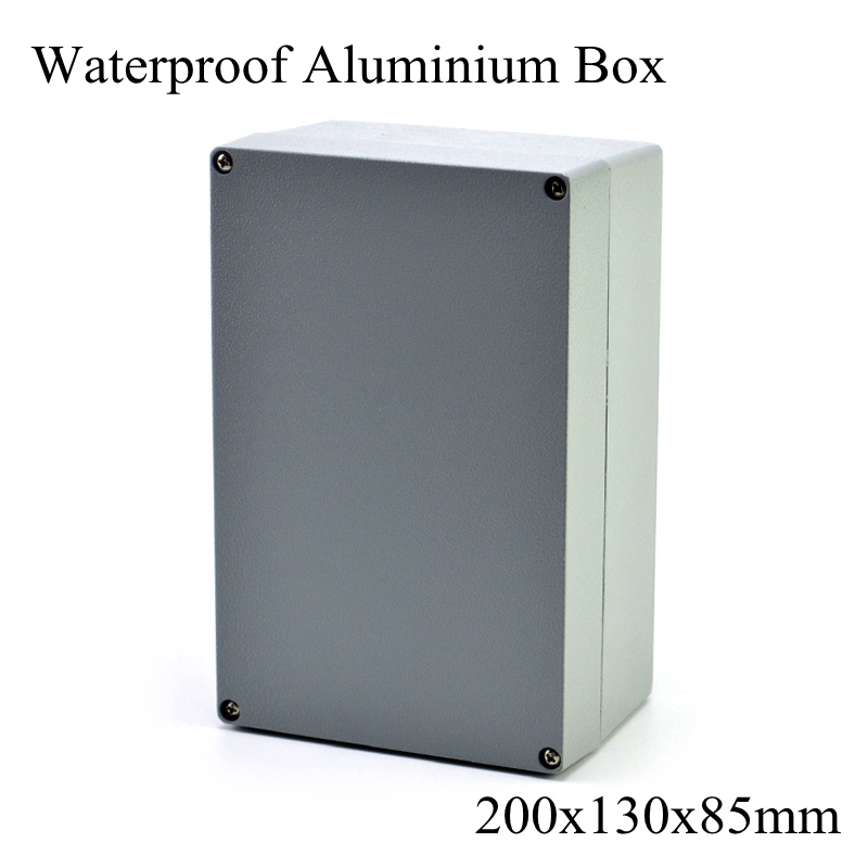 FA12-1 200x130x85mm Aluminum Waterporrf Enclosure Sealed Project Electrical Wire Junction Case Distribution Box 200*130*85mm lupulley 1pc wheel timing pulley htd 5m 40t teeth 21mm width 6mm 8mm 10mm 12mm 14mm 15mm bore pulley for belt drive synchronous
