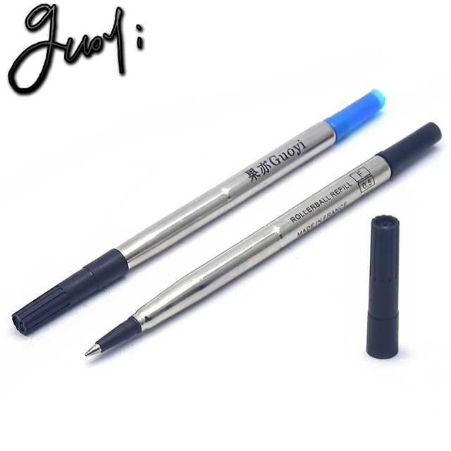 Guoyi Q005 gel pen refill 5pc /lot office stationery for school writing length 1000m business pen writing accessories