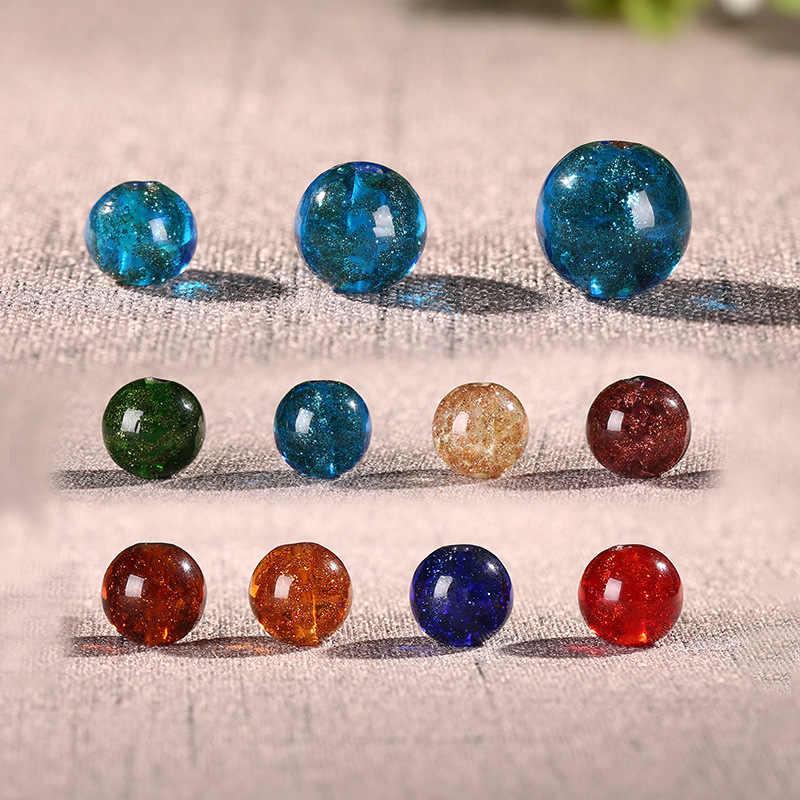 bbf5fb017380 8 10 12mm cuentas de cristal de Murano bola polvo arena multicolor para  pendientes collar