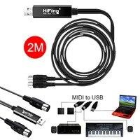 2 Mét USB Để 2 MIDI Giao Diện Adapter Cable Chuyển Đổi Cho Âm Nhạc PC Bàn Phím Synth Adapter Windows & Mac iOS