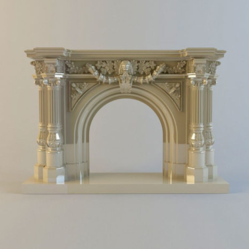 Fireplace 3d model STL relief for cnc STL format Fireplace 3d model for cnc stl relief artcam vectric aspire 3d model relief for cnc in stl file format the girl from the bathroom