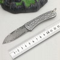 free shipping Exquisite gift knife outdoor camping tool knife folding knife sharp Damascus