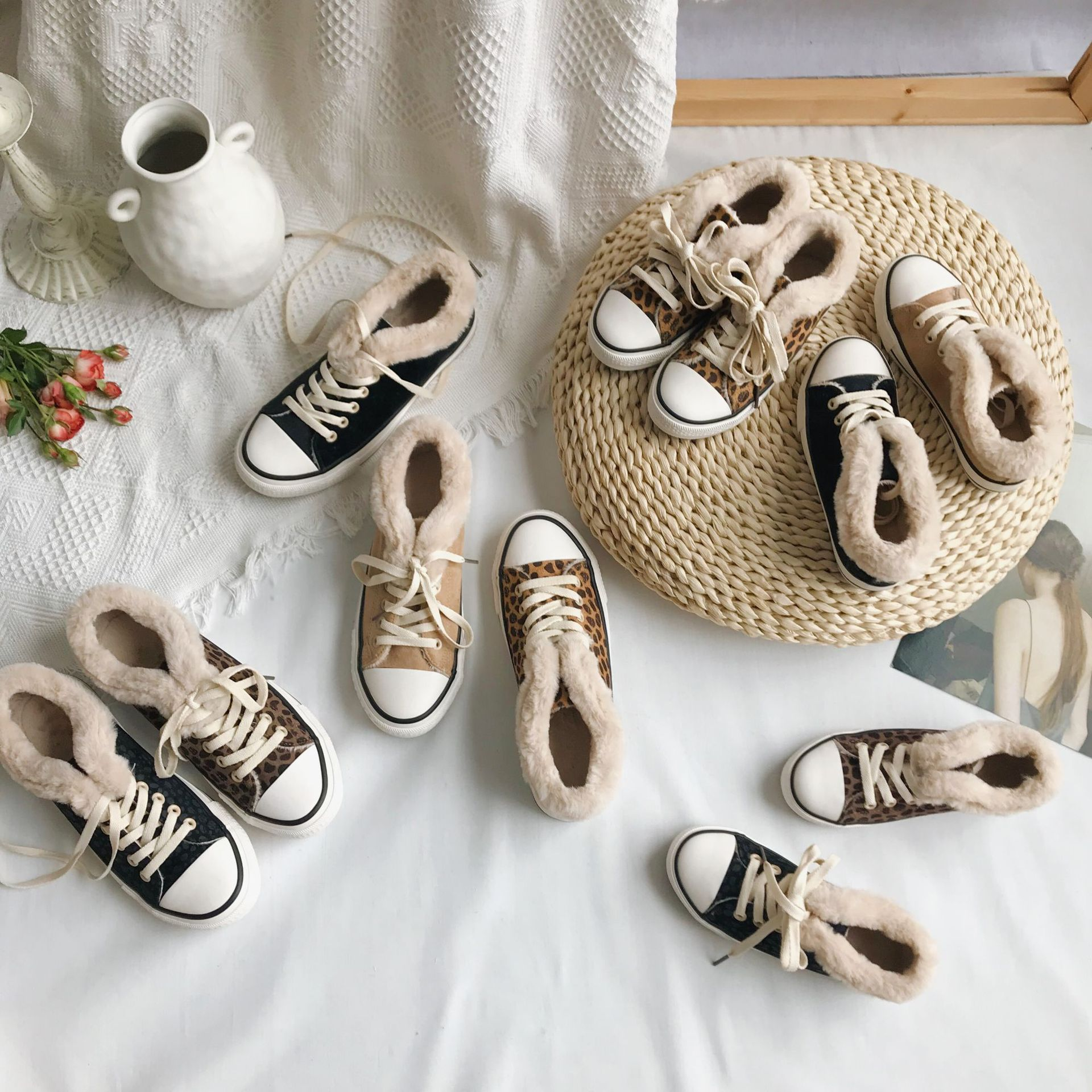 Korean Baby Boys and Girls Shoes Children Plus Velvet Thickening Classic Shoes Children Casual Shoes Baby Girl Sport Sneaker