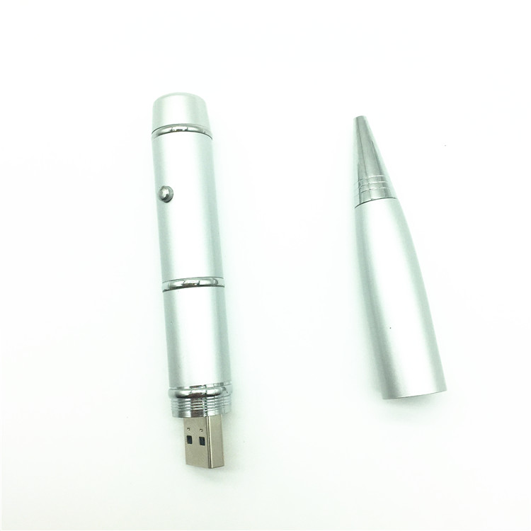 Hot model Ballpoint pen Laser Cahaya usb flash pen drive memory stick - Penyimpanan eksternal - Foto 6