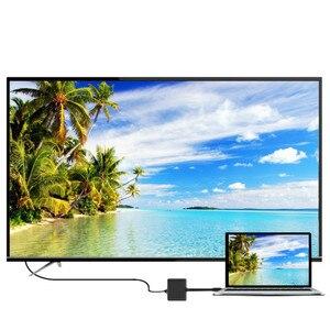 Image 4 - Adattatore USB C tipo C a HDMI cavo convertitore USB 3.0 USB C cavo adattatore porta di ricarica per MacBook/samsung Galaxy S8/Lumia 950Xl