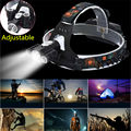Adjust 5000LM LED Headlight CREE XM-L T6 + 2R5 Headlamp High Power 4Modes Head Torch Lamp Use 18650 battery For Camping