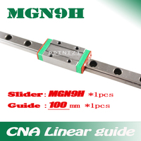 9mm Linear Guide MGN9 L 100mm Linear Rail Way MGN9H Long Linear Carriage For CNC X