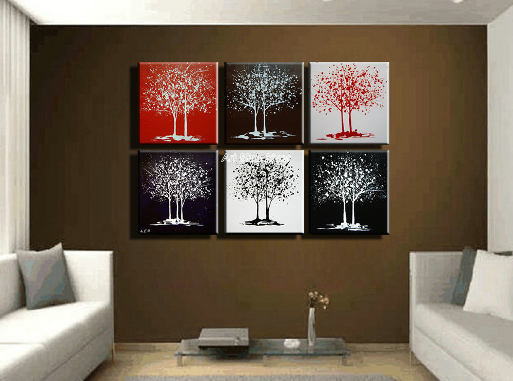 buy large muti panel canvas wall art acrylic life tree picture abstract. Black Bedroom Furniture Sets. Home Design Ideas