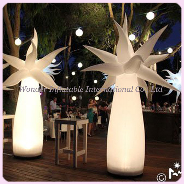 2 4mhigh Newstyle Multicolor Led Lighting Inflatable Palm Tree Decoration