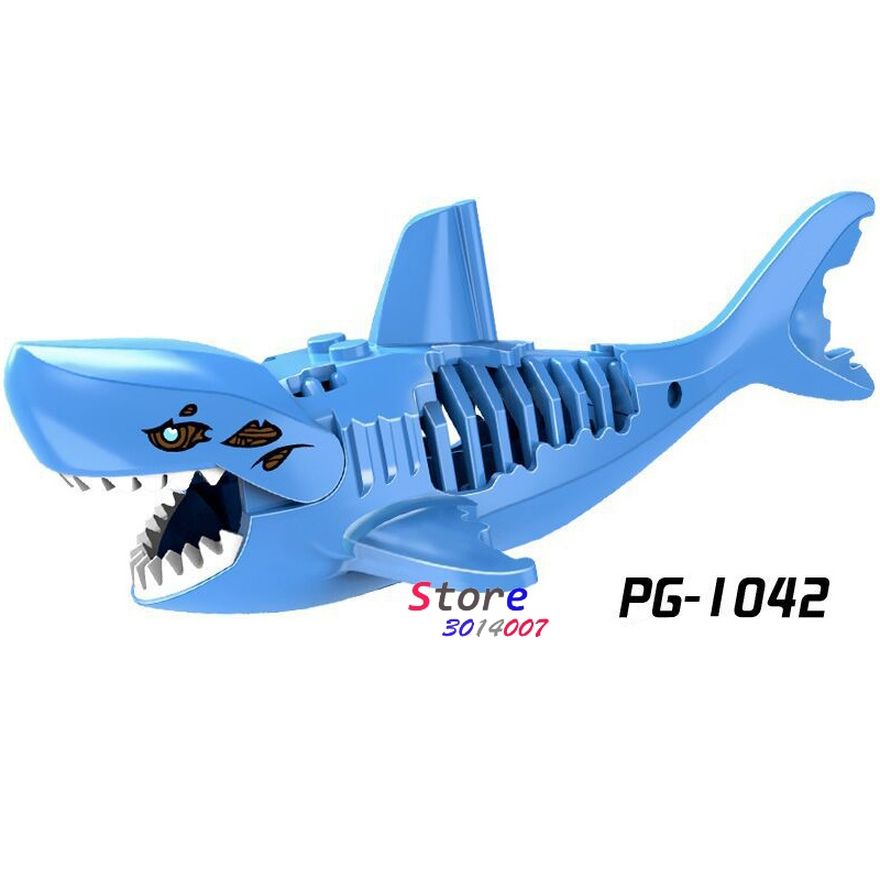 Single Ghost Zombie Shark Jack Sparrow Pirates of the Caribbean bricks model building block bricks for house games children toys