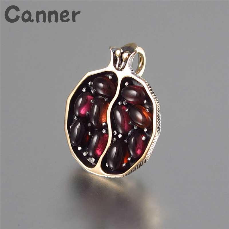 Cner Garnet granat naszyjnik łańcuch czerwony kamień wisiorek długi naszyjnik owoce akrylowe naszyjniki dla kobiet biżuteria 2019 prezenty A6