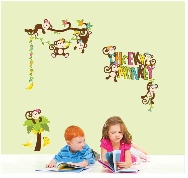Bedroom kindergarten classroom Children wall decoration stickers ...
