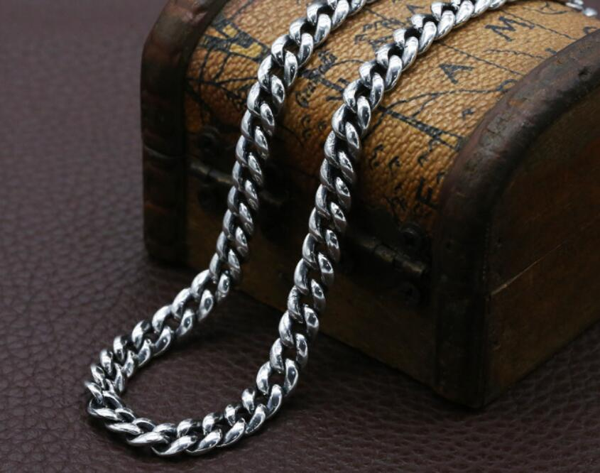 925 en argent Sterling mode étudiant collier six mots Mantra avec bijoux de paix - 2