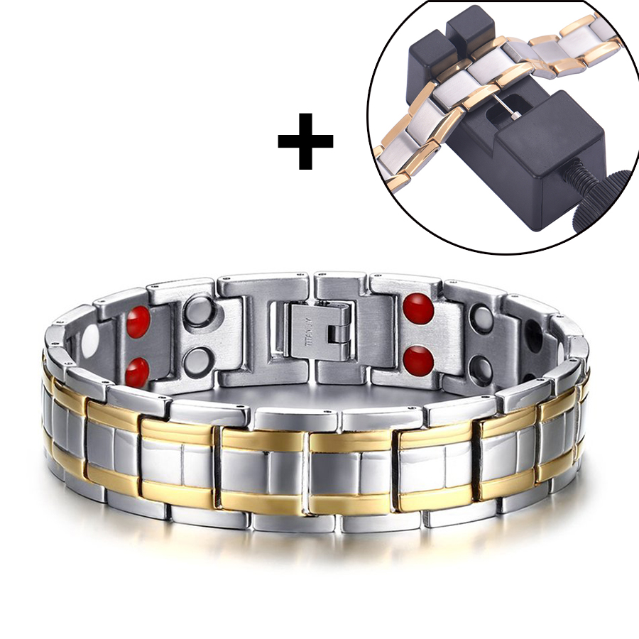 Magnetic Slimming Bracelet Fashionable Jewelry For Man Woman Link Chain Weight Loss Bracelet Length Adjustable Slimming Products