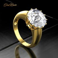 d87b424c3ebd OneRain 100 925 Sterling Silver Created Moissanite Gemstone Wedding  Engagement Yellow Gold Ring Anniversary Jewelry Wholesale