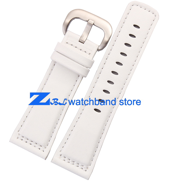 Genuine Leather Watchband Smooth white Bracelets Strap 28mm High quality For friday Watchs mens leather bracelet