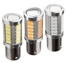 2pcs 1156 7506 BA15S P21W 5630 5730 LED Car Tail Bulb Brake Lights auto Reverse Lamp