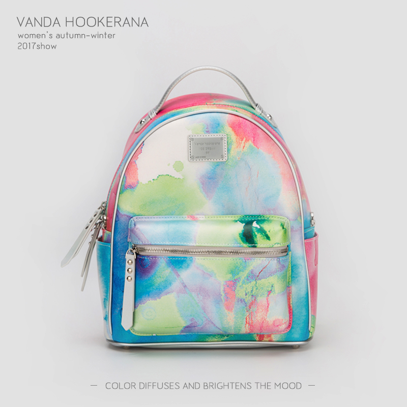 Vanda Hookerana 2017 Women Backpack Colorful Fashion Art Bags Rainbow Color Female Personality Trend Bags Microfiber Backpack vanda robert s delight купить