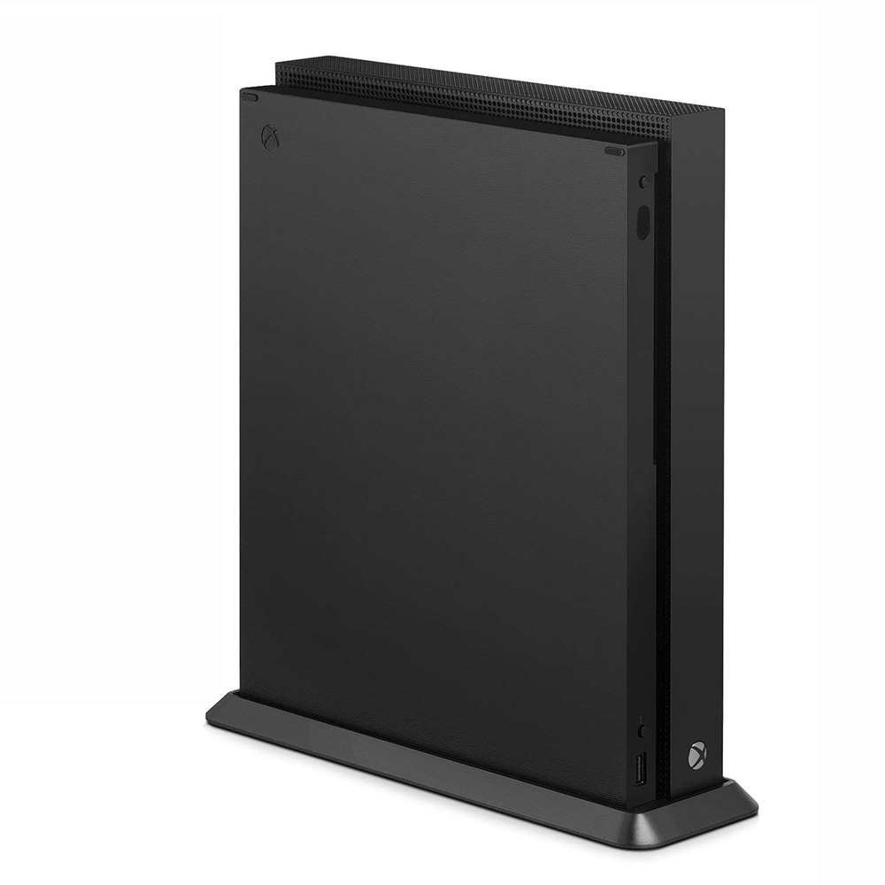 Portable Vertical Stand for Xbox One X Non-slip Vertical Dock Holder for Xbox One X Game Console Game Accessories Black image