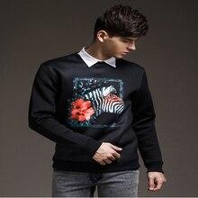 2015 Autumn New Korean Printing Hedging Hoodie Round Neck Cotton Casual Men's Baseball Jacket Sweatshirt Coat Male