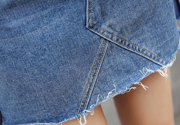 HTB1nAs1QXXXXXXeXpXXq6xXFXXXB - Denim Skirts Striped Slim A Line High Waist Blue Jeans Skirt PTC 154