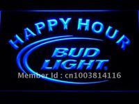 601 Bud Light Happy Hour Sinal de Néon CONDUZIDO com On/Off Switch 20 + Cores 5 Tamanhos para escolher