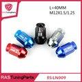20pcs/pack D1 Spec Racing Aluminum Lug Wheel Nuts Screw L=40mm M12x1.5/1.25 Universal  RS-LN009