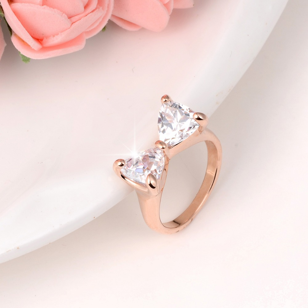 twist shape wedding bow contour ring product rings