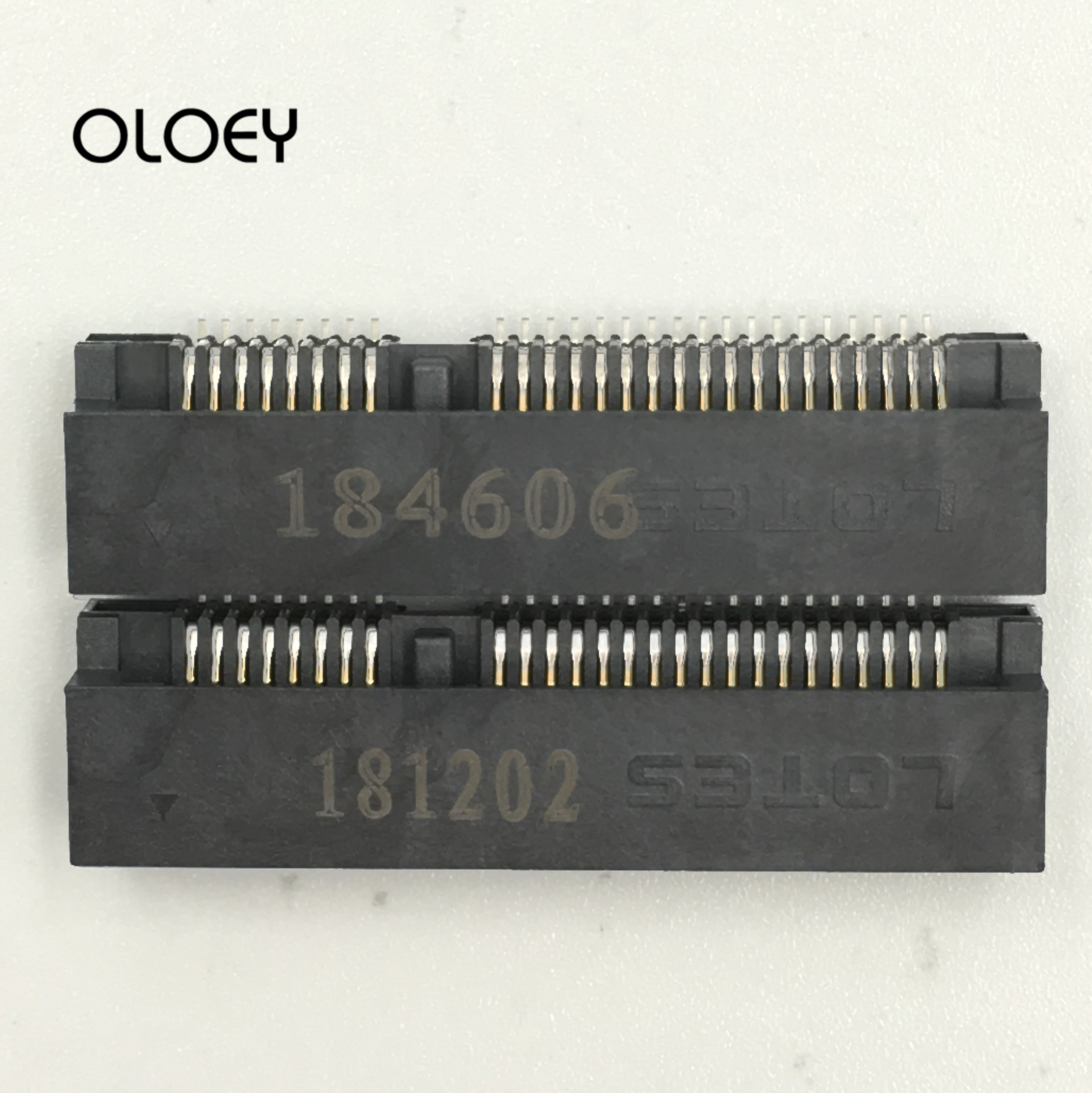 MINI PCIE Msata Connector PCI-E Socket Slot 52P Card Holder 4.0H 5.2H 5.6H 8H For Notebook MiniPCIE