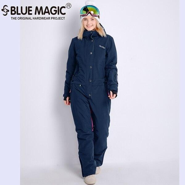 Синий волшебный зимний сноуборд kombez лыжная куртка и брюки лыжные костюмы женский комбинезон женский сноуборд водонепроницаемый комбинезон Россия - Цвет: nvy
