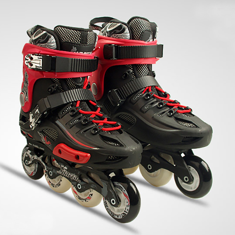 2018 Inline Professional Adult Women Men Slalom Ice Skating Skate Shoes Adjustable Washable PU Wheels Adulto 3 Colors inline professional women adult slalom sliding ice skates skating shoes adjustable washable 85a flash pu wheels panties adulto