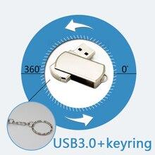 HOT Pen Drive 512GB Metal Sviwel Keychain Gift USB 3.0 Flash Drive 256GB Mini USB Stick Genuine 16GB 32GB 64GB 128GB Pendrive