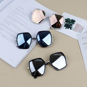 2018 New Children's Sunglasses Oversized Frame Sunglasses Designer Boys Girls Fashion Black Floral Sunglasses  NX