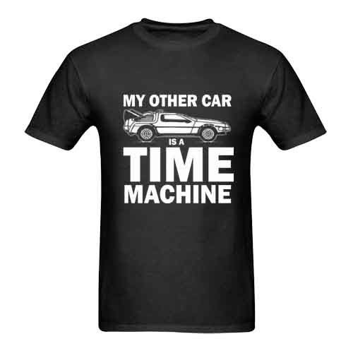 Back to The Future My Other Car is Time Machine Tee Tshirt For Mens