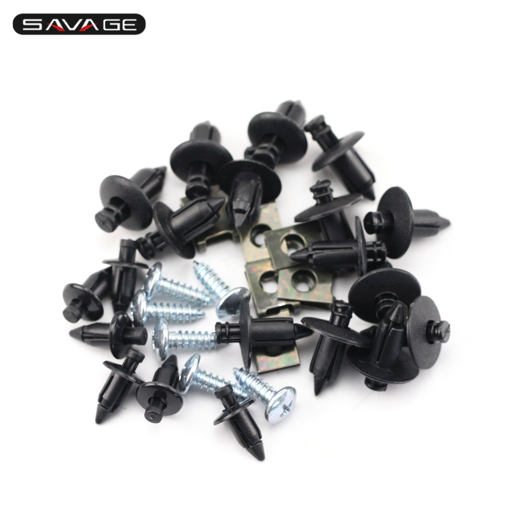Universal Motorcycle Fairing Nylon Rivets Fasteners Jaw Screw Bolt 6mm/7mm/8mm MotorBike Accessories 32 Pcs