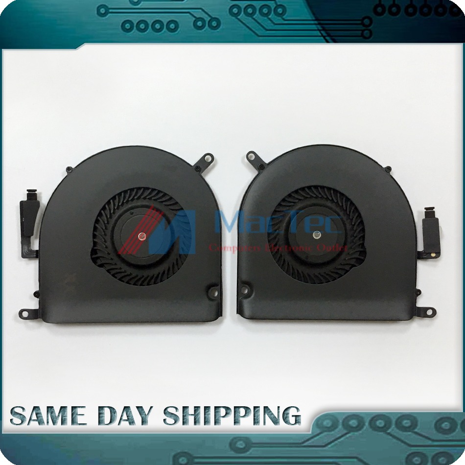NEW Genuine Mid 2015 for Macbook Pro Retina 15.4 A1398 CPU Cooling Fan Left + Right Set 610-0219 610-0220 923-00536 923-00537