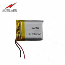 4pcs 3.7V 500mAh 603030 Lithium Polymer Battery For MP3 MP4 Bluetooth Small Toys
