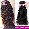 7А Бразильский Глубокая Волна Девы Волос 3 Bundle Предложения Бразильский Глубокий Вьющиеся Волосы Девственницы Бразильские Волос Weave Bundle Cheveux Bresilien