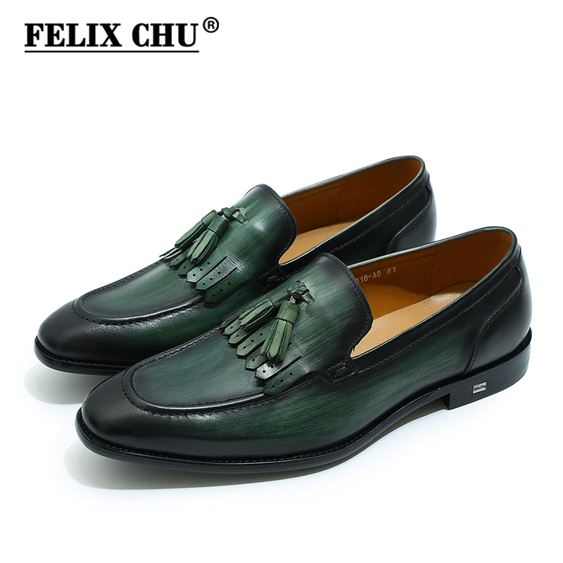 Tosjc Men Casual Loafers Fashion Tassel Dress Shoes Male Luxury Leather Banquet Wedding Footwear Man Breathable Mesh Moccasins Men's Shoes