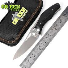 Зеленый шип Темный шарикоподшипник тактический складной нож D2 лезвие Титан+ G10 Ручка лагерь Охота Открытый выживания Ножи EDC инструменты