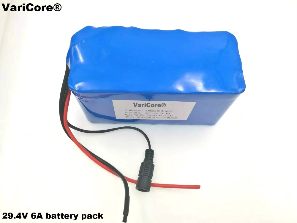 VariCore 24V 6Ah 7S3P 18650 Lithium <font><b>Ion</b></font> <font><b>Battery</b></font> <font><b>29.4V</b></font> 6000mAh For Electric Bicycle image