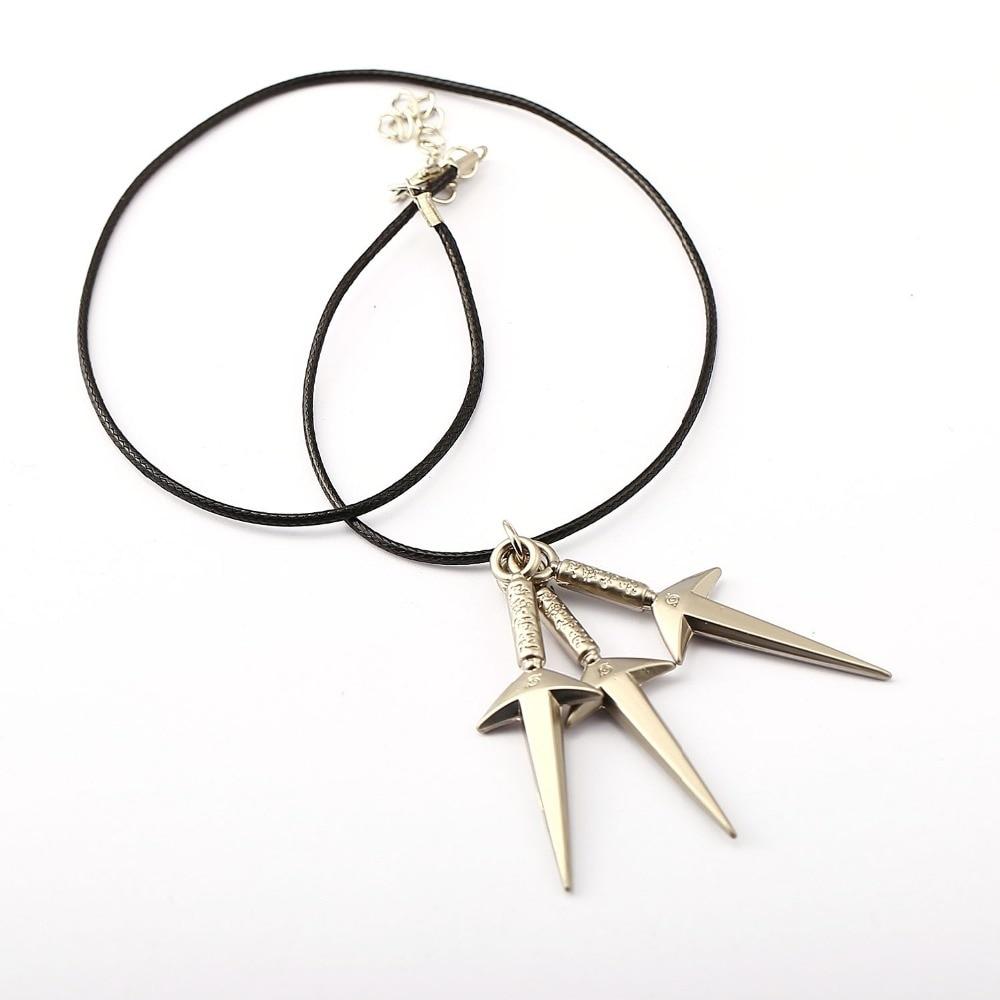 NARUTO Choker Necklace 3 Kunai Pendant